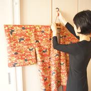 イカス*キモノセレクト<着物や帯の風通しに>組立て式着物ハンガー